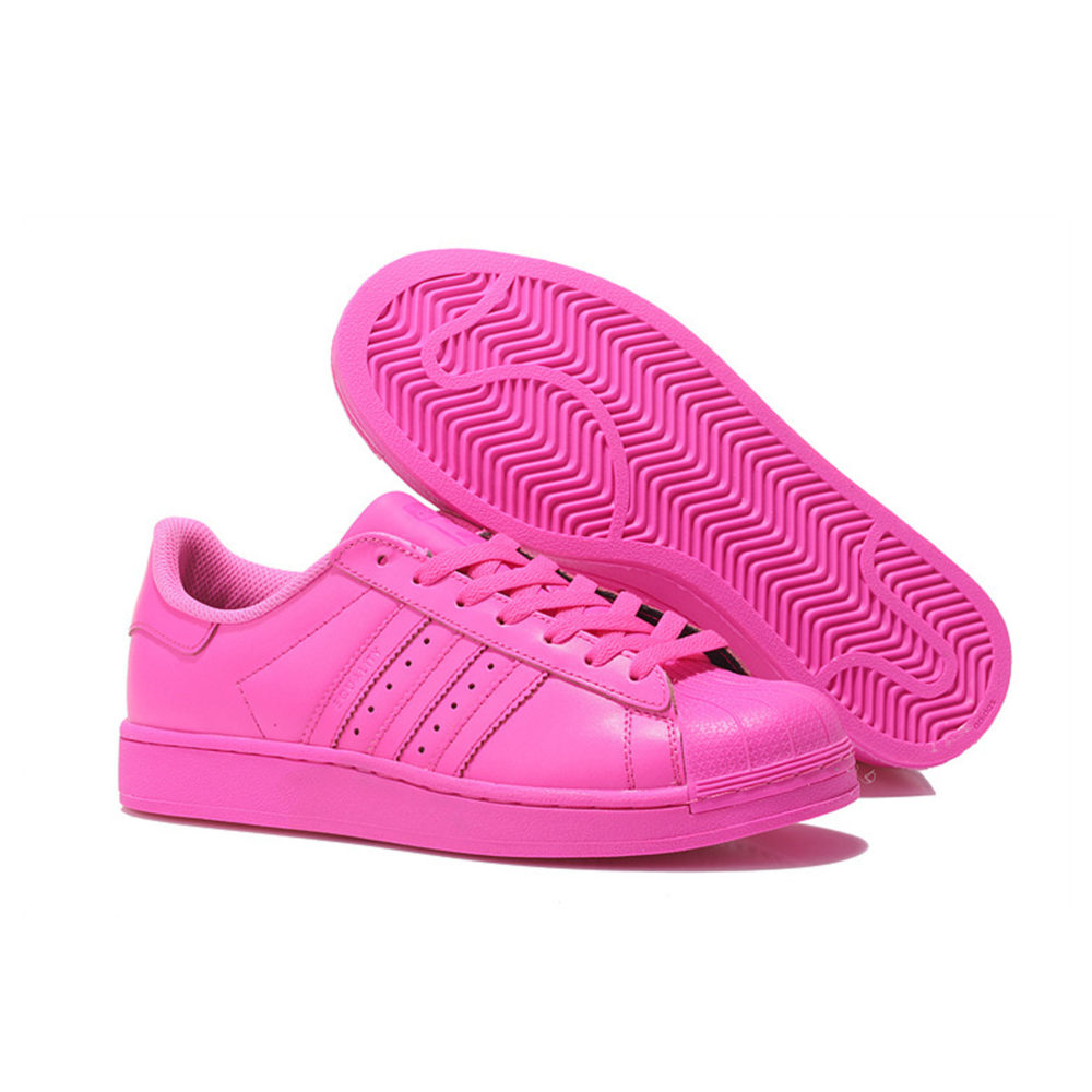 adidas superstar supercolor by Pharrell Williams solar pink