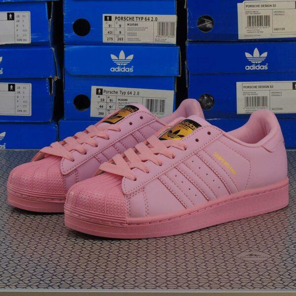 adidas superstar supercolor by Pharrell Williams light pink купить