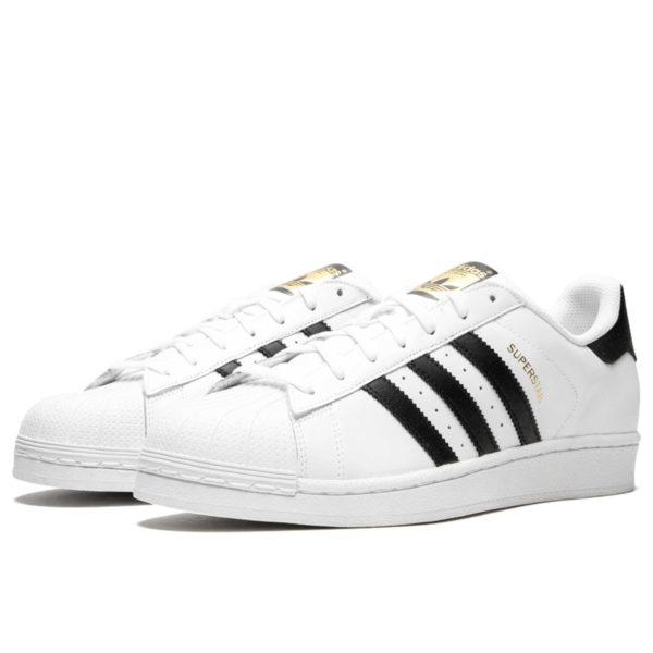adidas superstar white black c77124 купить