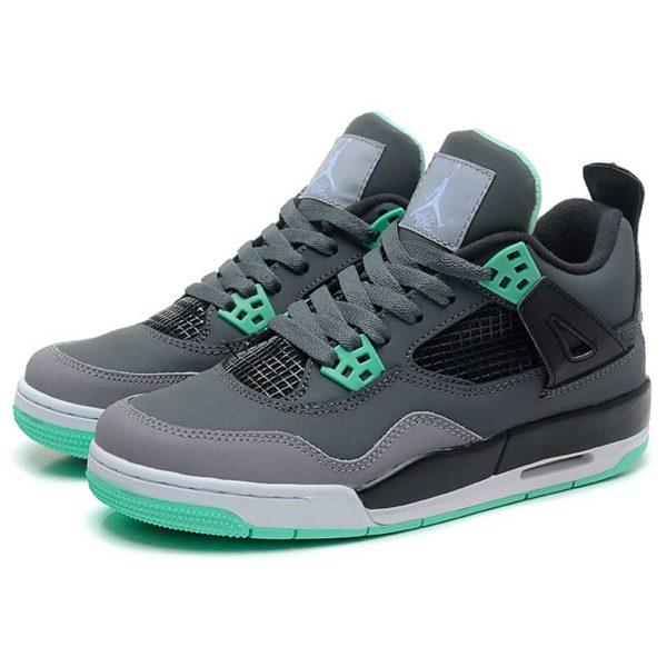 nike air jordan 4 retro dark grey green glow 308497-033 интернет магазин