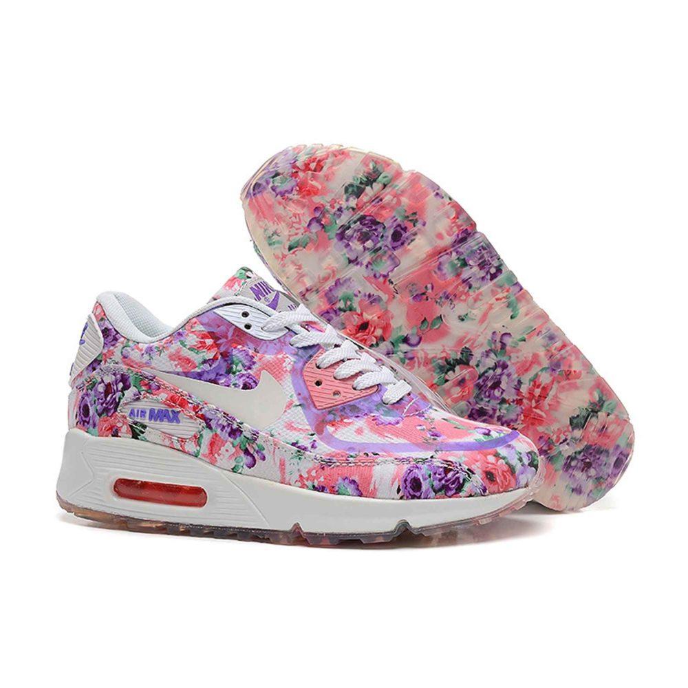Nike Air Max 90 Floral Purple Rose Купить