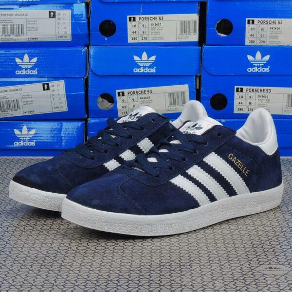 adidas gazelle blue whiteq21600 купить