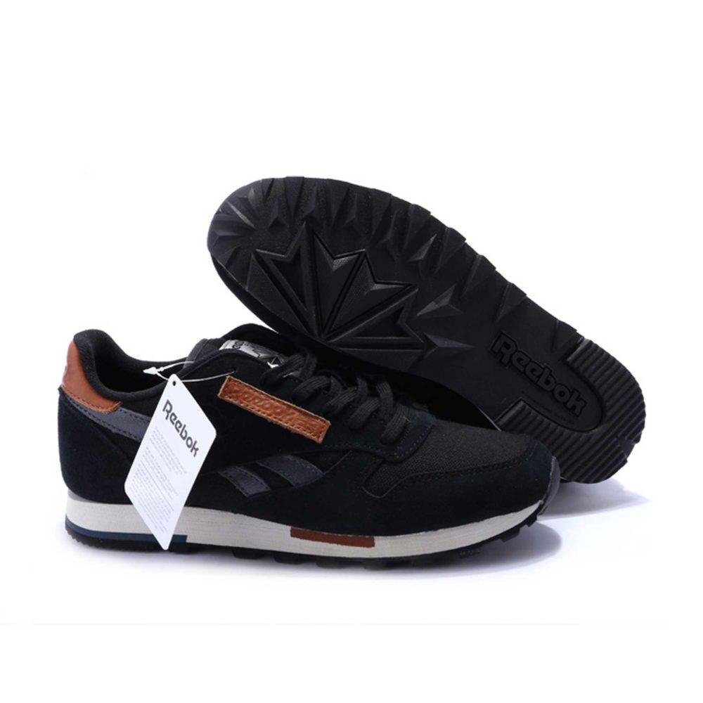 Интернет магазин купить Reebok Classic Leather Utility suede black grey