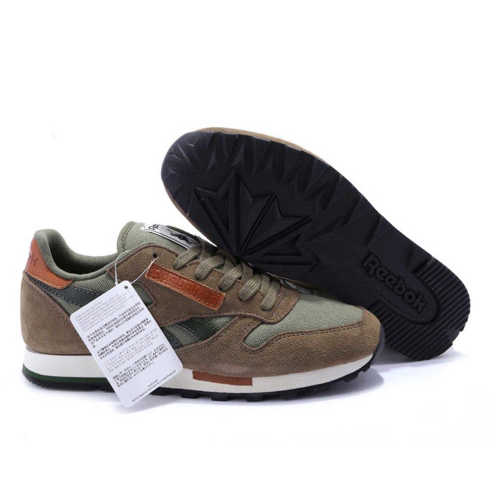 Интернет магазин купить Reebok Classic Leather Utility suede olive brown