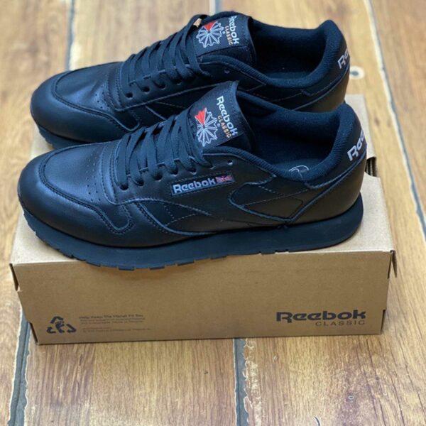 reebok royal classic leather all black купить