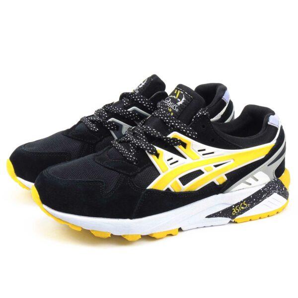 asics gel kayano trainer black yellow H43HK-9005