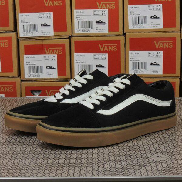 vans old skool black white gum купить