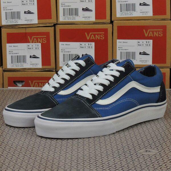 vans old skool blue white купить