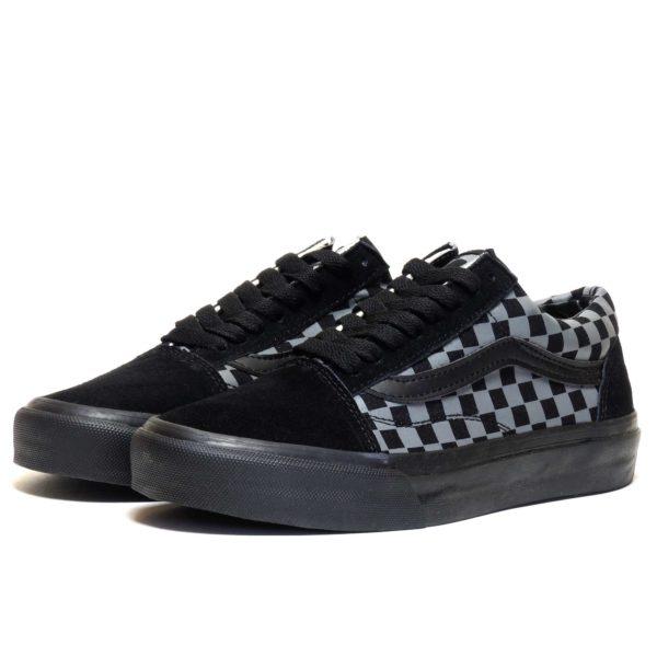 vans old skool checkerboard black grey купить