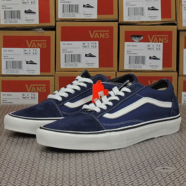 vans old skool dress blue white sole купить