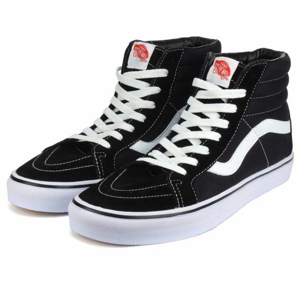 vans sk8-hi black white купить