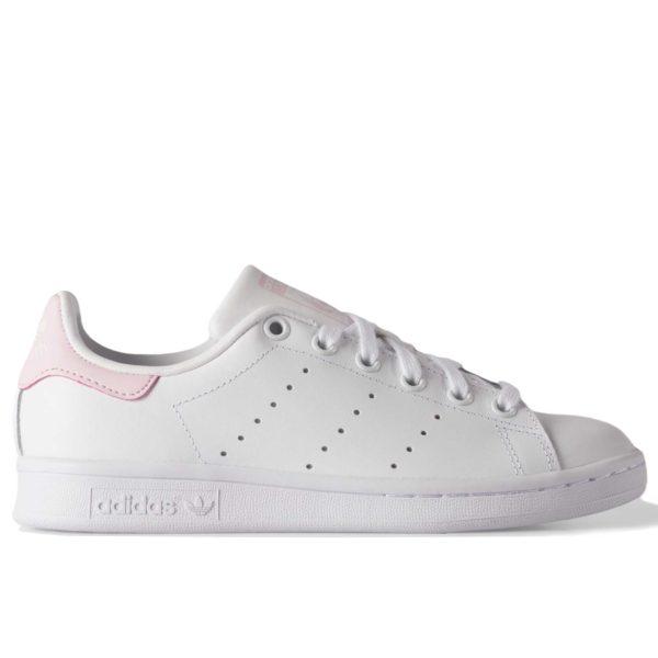 adidas stan smith leather white pink купить