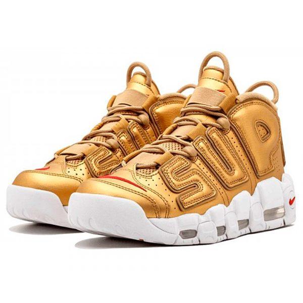 интернет магазин nike air more uptempo supreme metallic gold white 902290-700