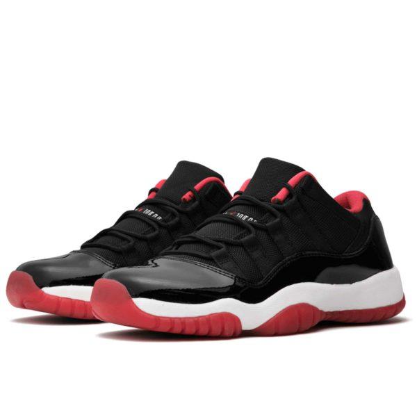 nike nike air Jordan 11 retro low bg black red 528896_012 купить