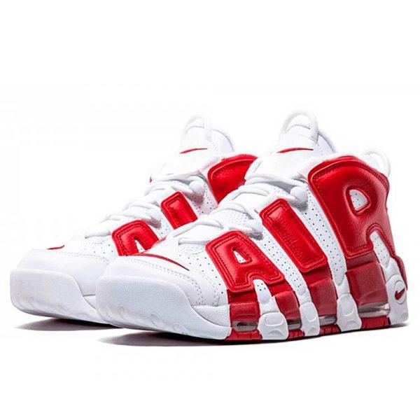 интернет магазин nike air more uptempo white gym red 414962-100
