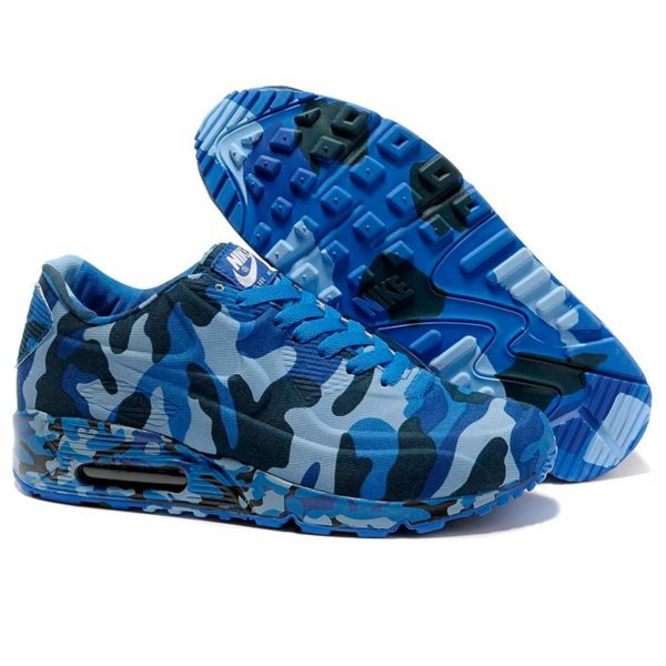 nike air max 90 VT camouflage blue gray 472513-009 купить