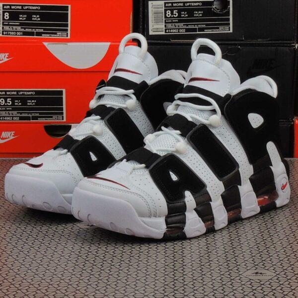 nike air more uptempo white black unversity red 414962_105 купить