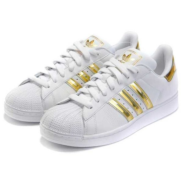 adidas superstar white gold купить
