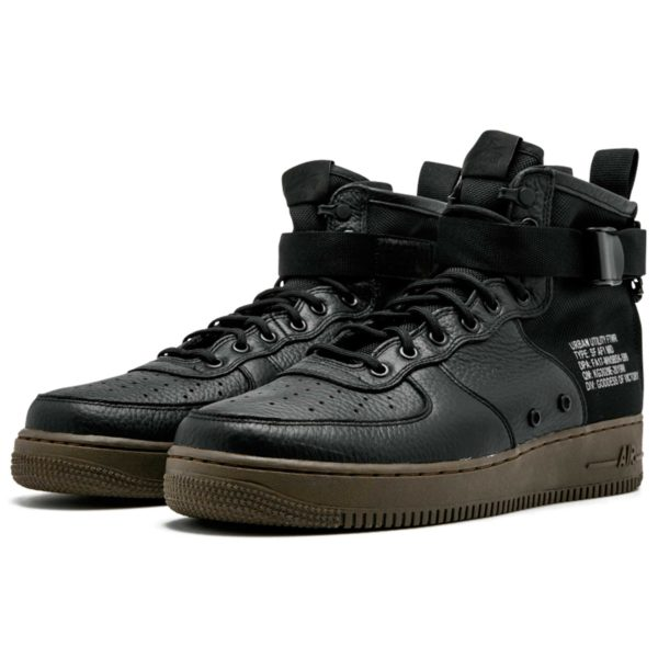 nike sf air force 1 mid black 917753_002 купить