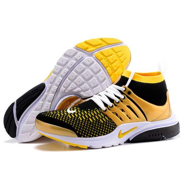 nike air presto black yellow купить