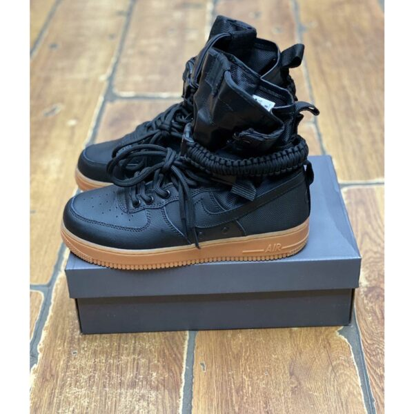 nike sf air force 1 black gum 859202_009 купить
