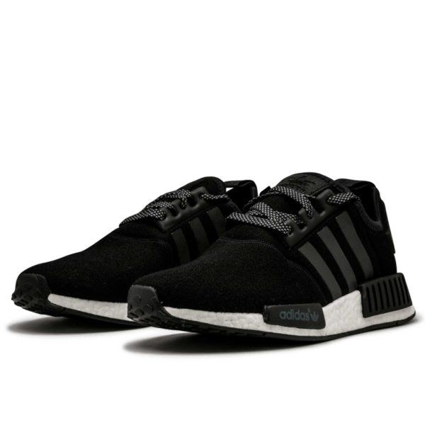 adidas nmd r1 black white BW0617 купить
