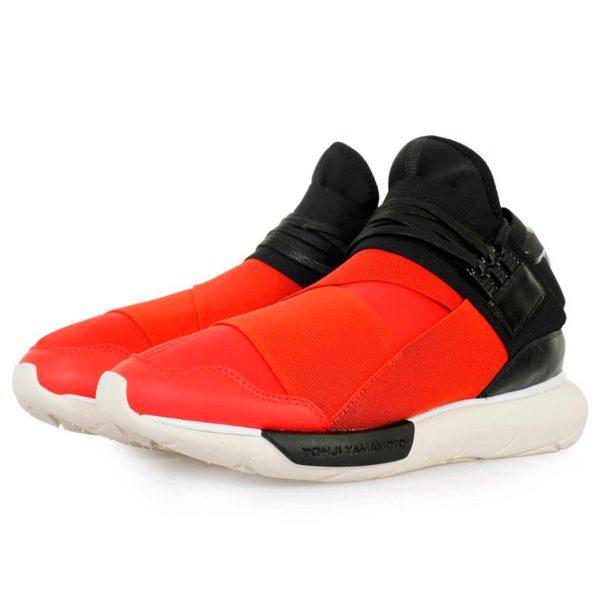 adidas Y-3 Qasa high black red купить