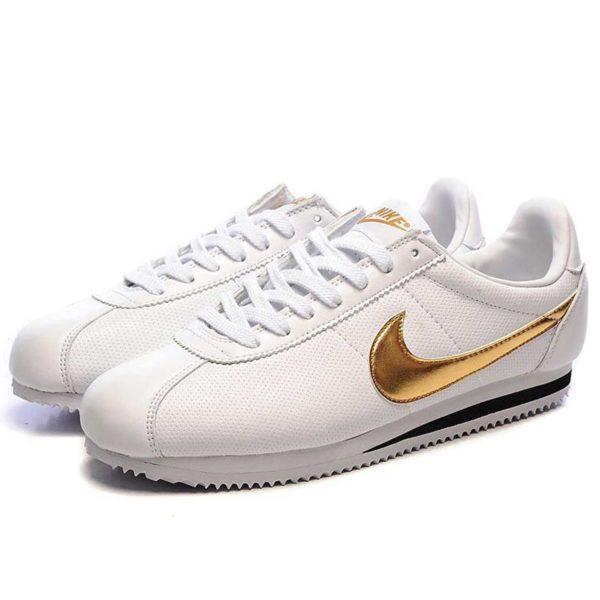 nike cortez classic white gold 349026_100 купить
