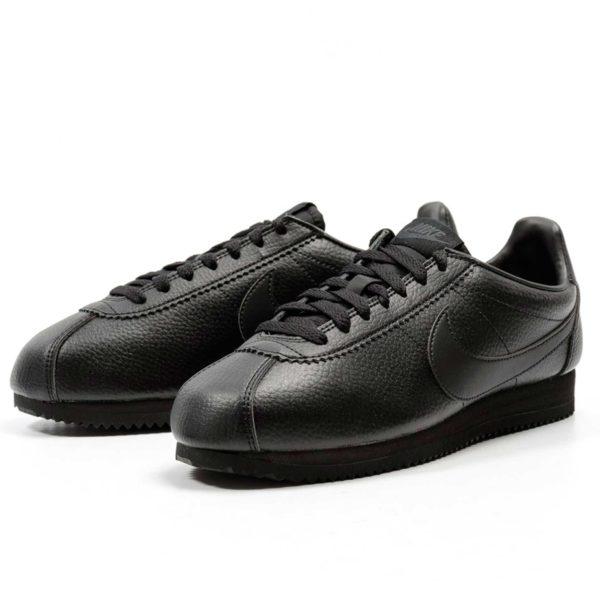 nike cortez leather all black 749571_002 купить