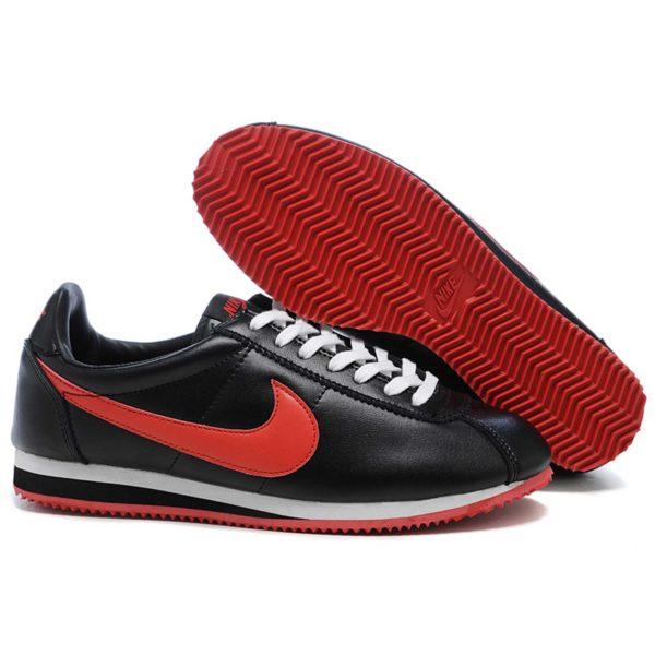nike cortez leather triple black red 349026_061 купить