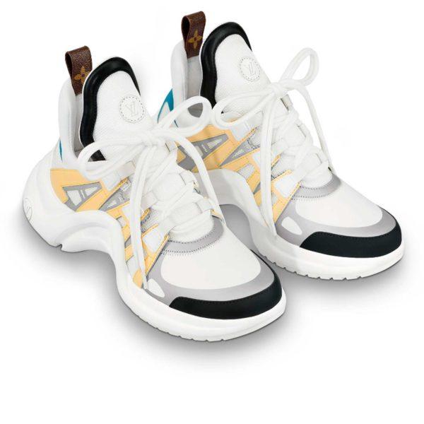 Louis Viton LV archlight sneaker yellow blue 1A43KL купить