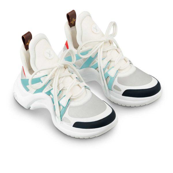 Louis Viton LV archlight sneaker white blue 1A43IT купить