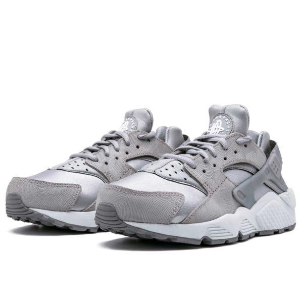 nike air huarache run prm suede grey white 833145_002 купить