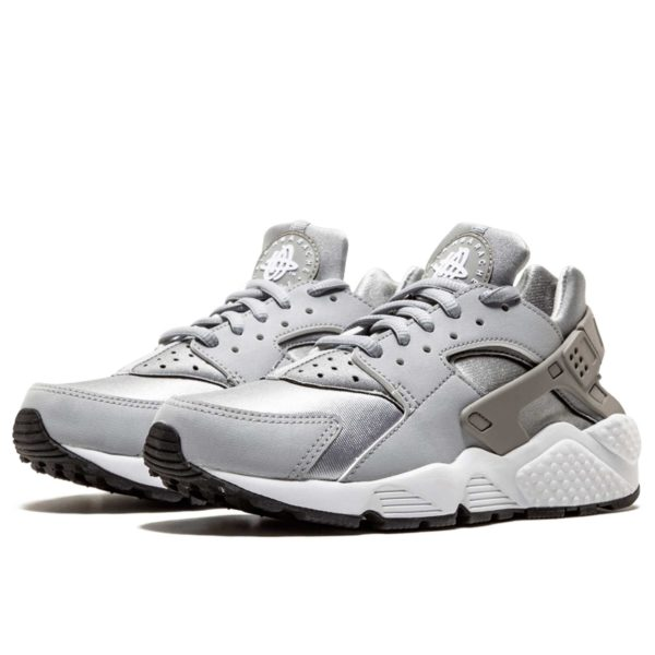 nike air huarache run silver white 634835_004 купить