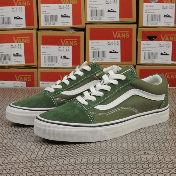 vans old skool army green купить