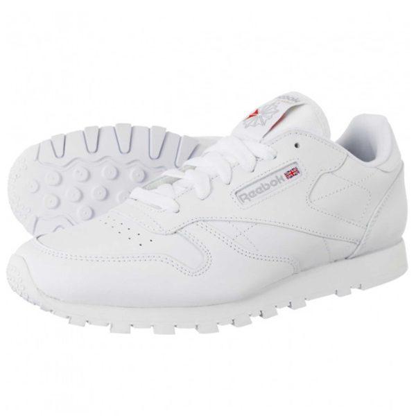 reebok classic leather all white купить