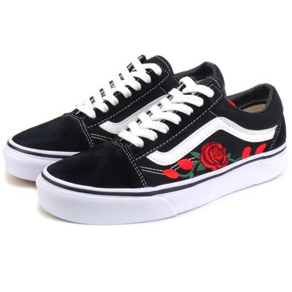 vans old skool roses купить