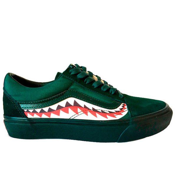 vans old skool shark green купить