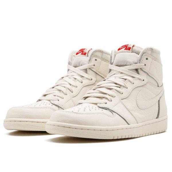 Air Jordan 1 retro high og all white 555088 _114 купить