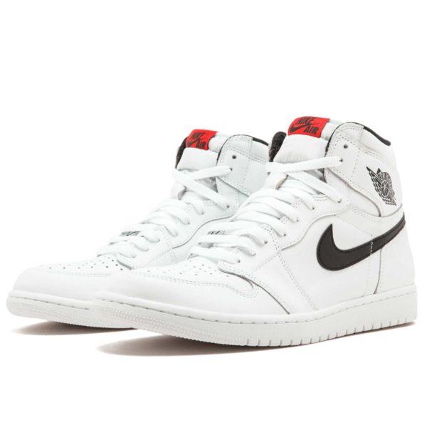 Air Jordan 1 retro high og white black 555088_102 купить