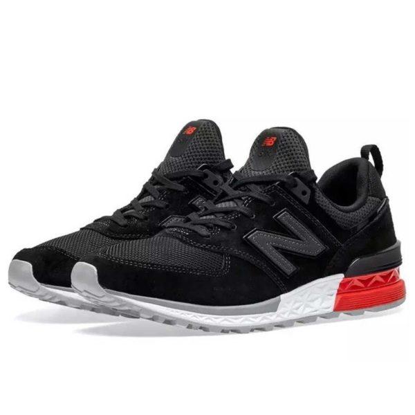 new balance 574 black red ms574ab купить