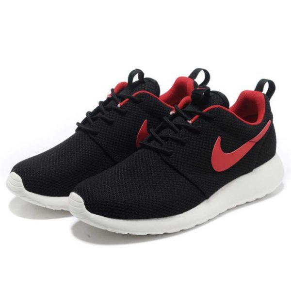 nike roshe run london black red swoosh 511881_058 купить
