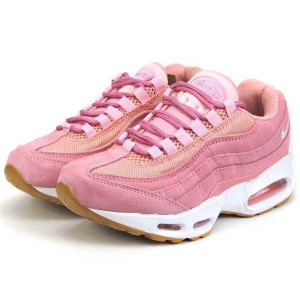 nike air max 95 pink white купить