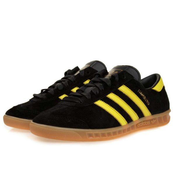 adidas hamburg black yellow купить