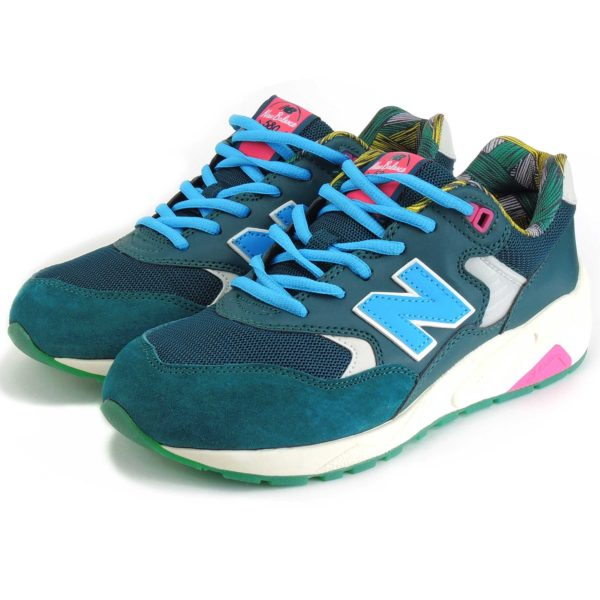 new balance 580 green blue купить