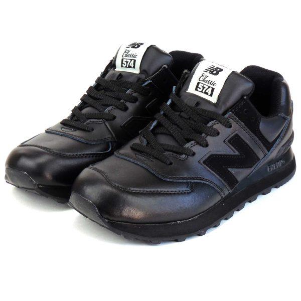 new balance 574 lether black ml574xpj купить