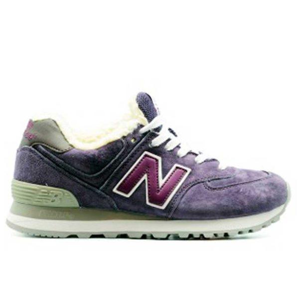 new balance 574 violet fur купить