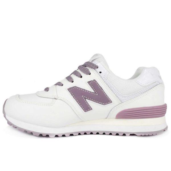new balance 574 white purple wl574sf купить