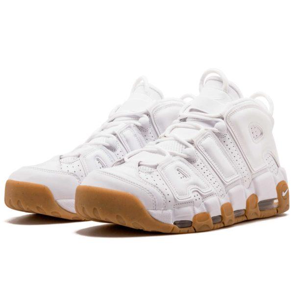 nike air more uptempo white gum414962-103 купить