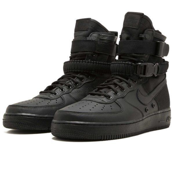 nike sf air force 1 triple black 864024_003 купить